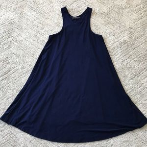 Norma Kamali // Timeless Tank Navy Swing Dress